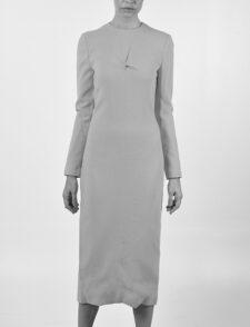 María Barros Vestido Crêpe de Seda