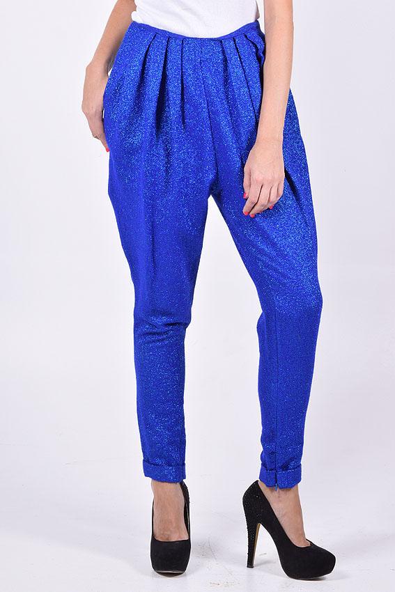 Pantalon lurex azul3