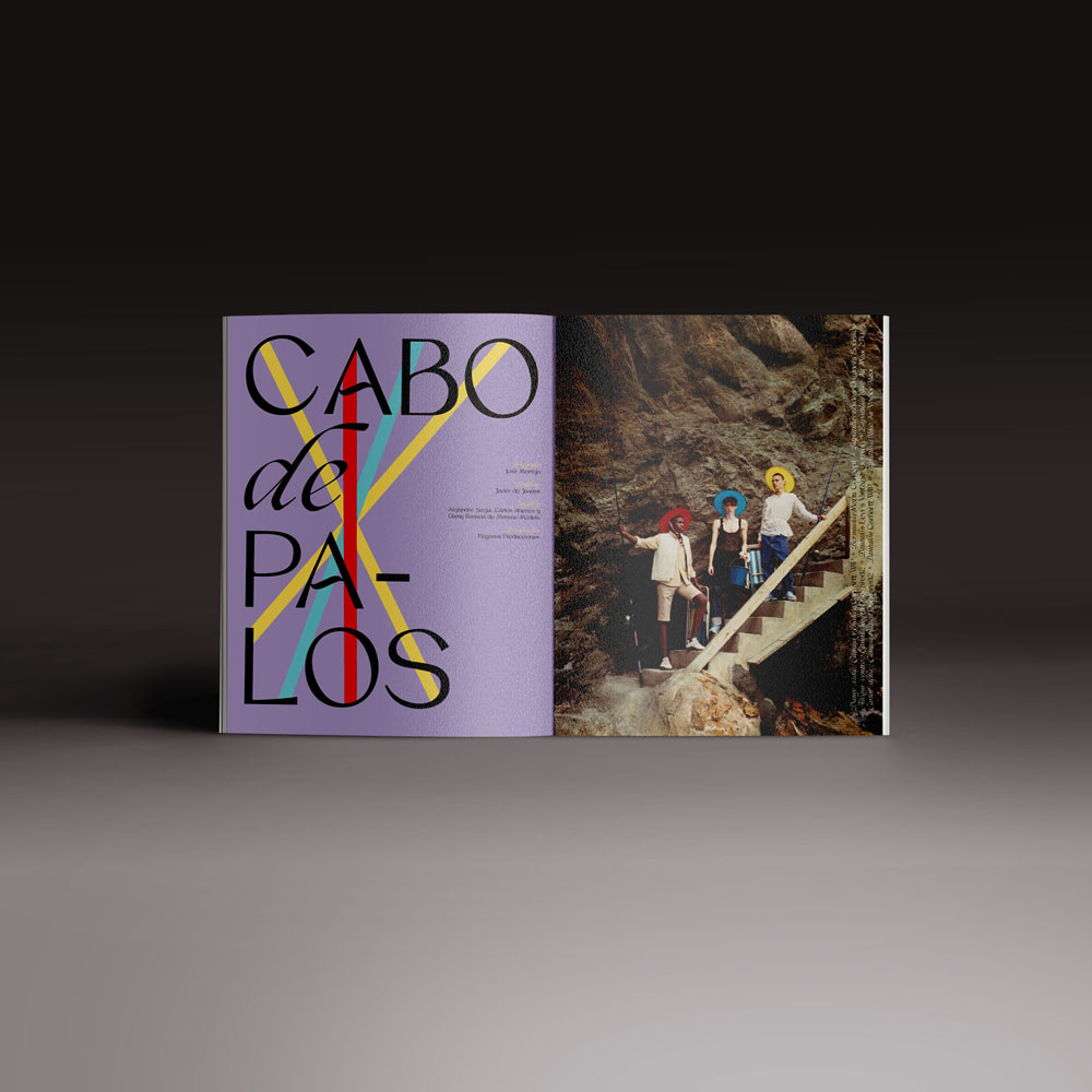 Neo2 revista 162. doble página del Editorial de moda Cabo de palos
