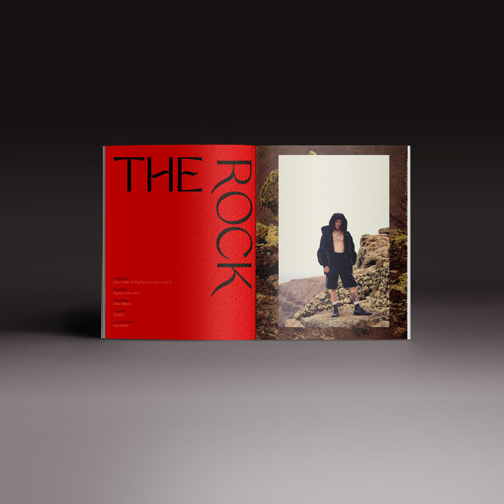 Neo2 revista 162. doble página del Editorial de moda The Rock