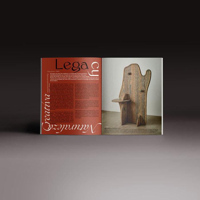 Neo2 revista 167, doble página con de mobiliario