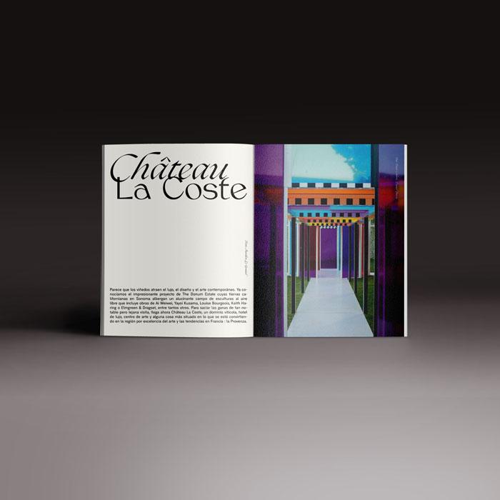 Neo2 revista 167, doble página con reportaje de arte