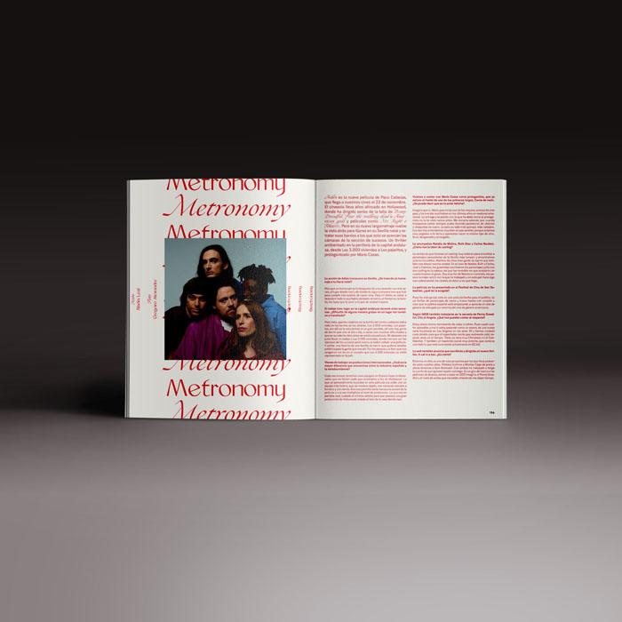 Neo2 revista 167, doble página con reportaje de Metronomy