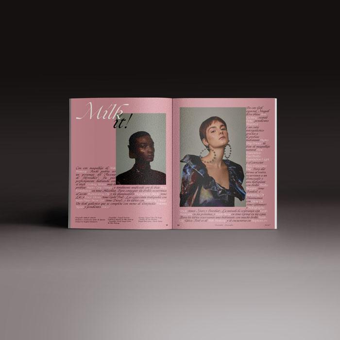 Neo2 revista 167, doble página con reportaje cosmética