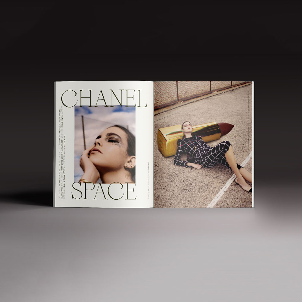 Revista Neo2 169. Editorial de Chanel Space