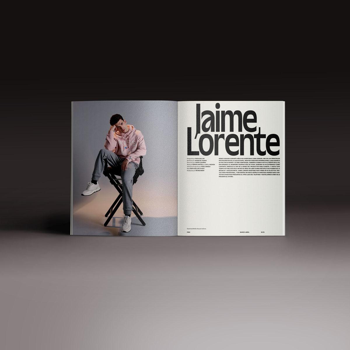 Neo2 Magazine doble página con Jaime Lorente