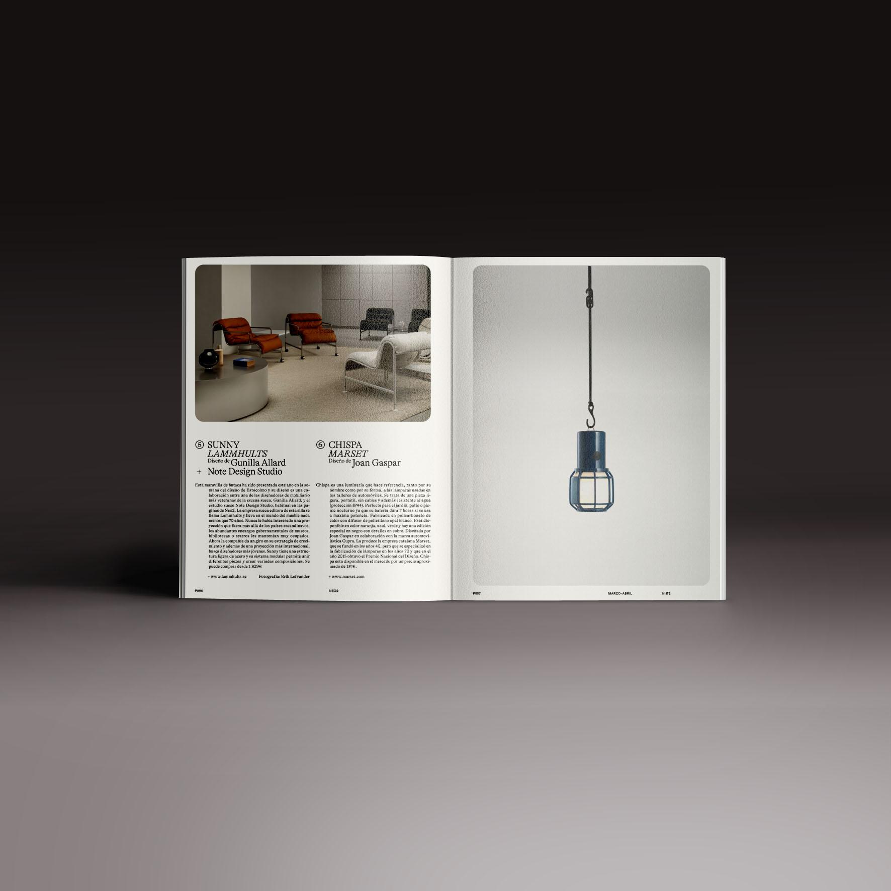 Neo2 Magazine papel doble pagina artículo Objetos domésticos