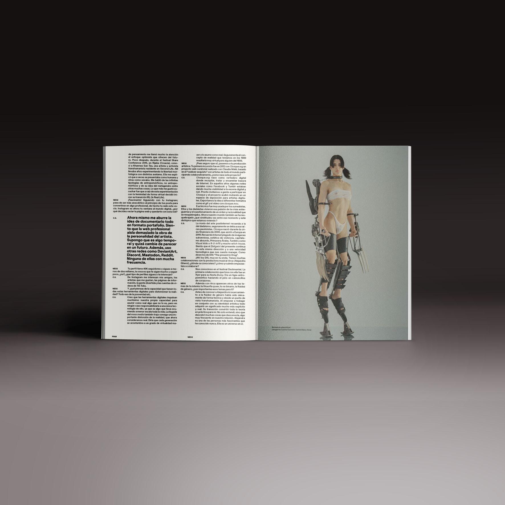 Neo2 Magazine papel doble pagina con Arca