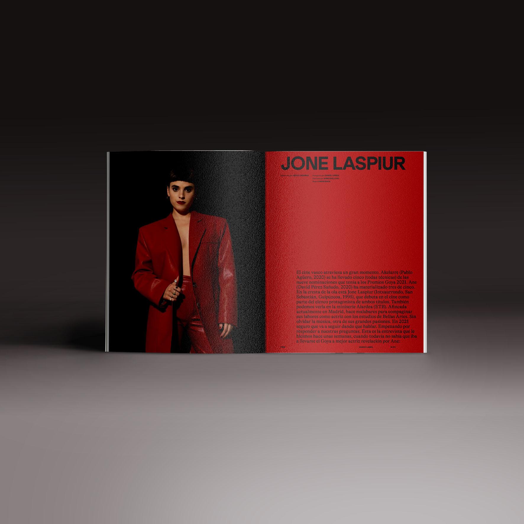 Neo2 Magazine papel doble pagina con Jone Laspiur