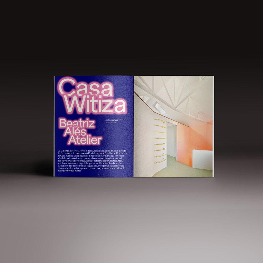 Neo2 Magazine 173 papel doble pagina apertura artículo Casa Witiza de Beatriz Alés