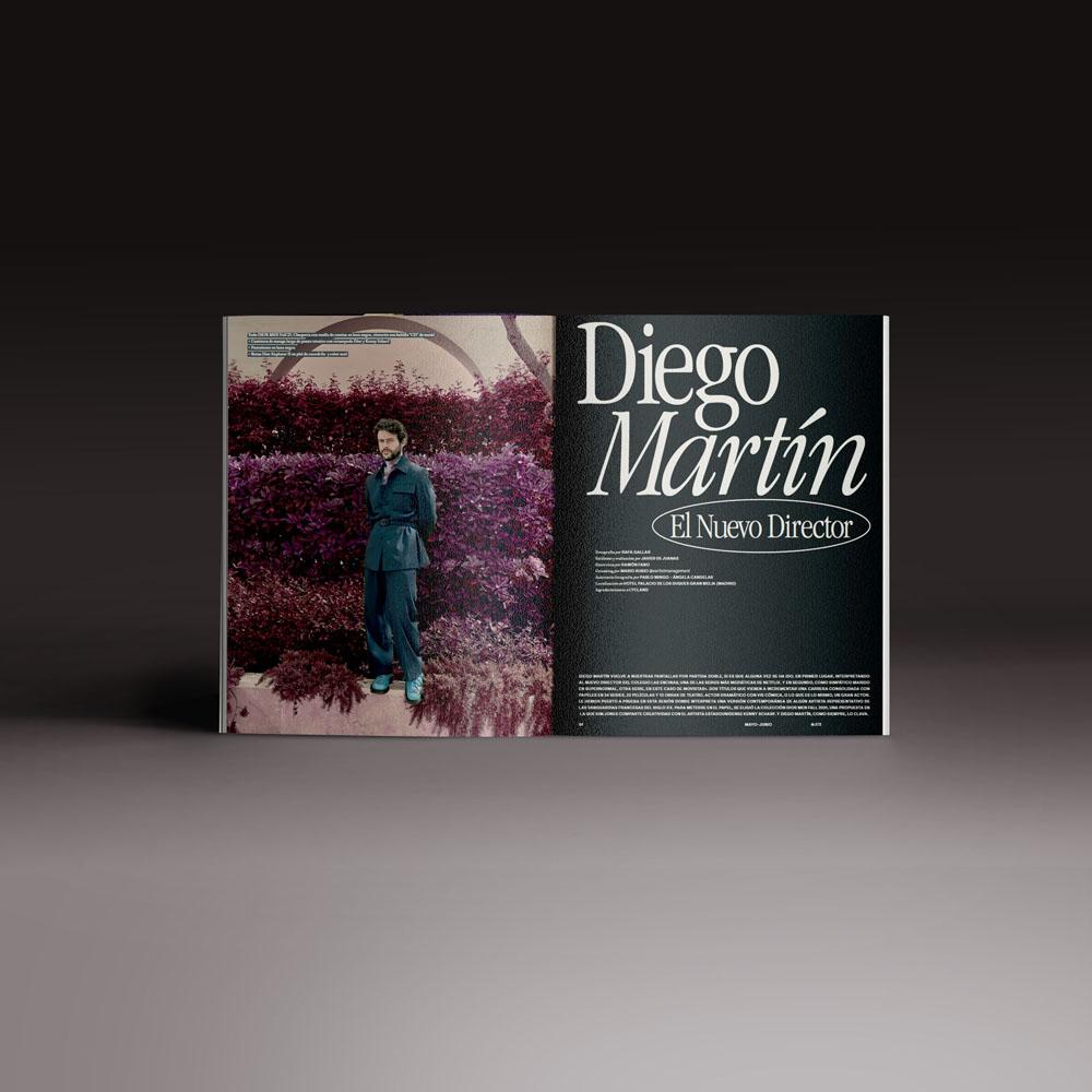 Neo2 Magazine 173 doble página de Diego Martín director de cine