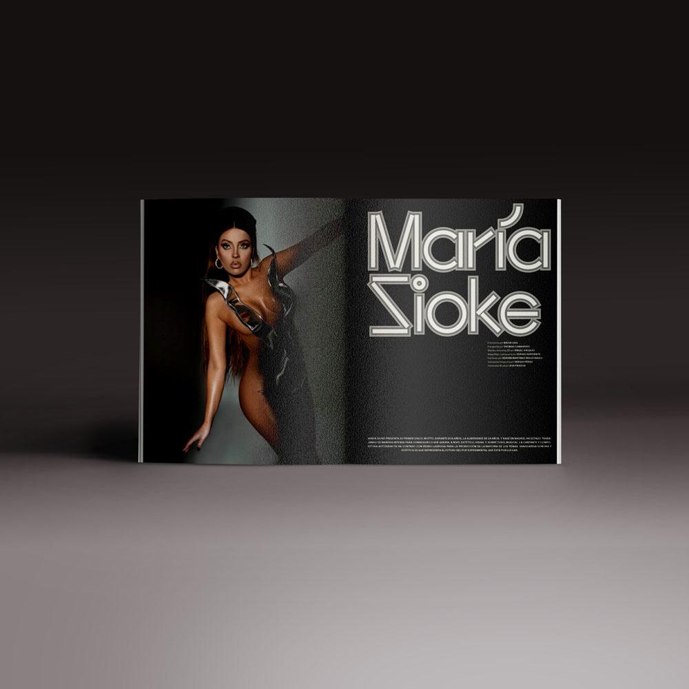 Neo2 Magazine: doble página articulo María Sioke