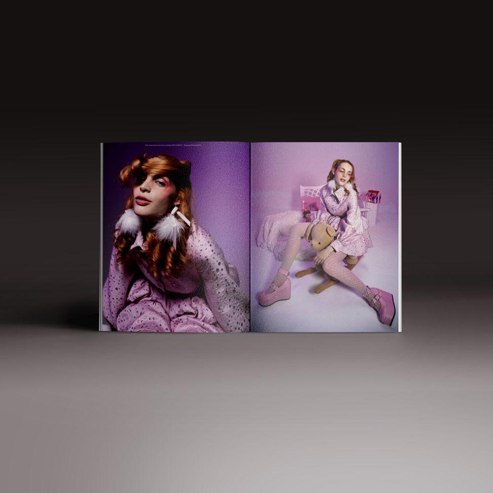 Neo2 Magazine: doble página editorial moda
