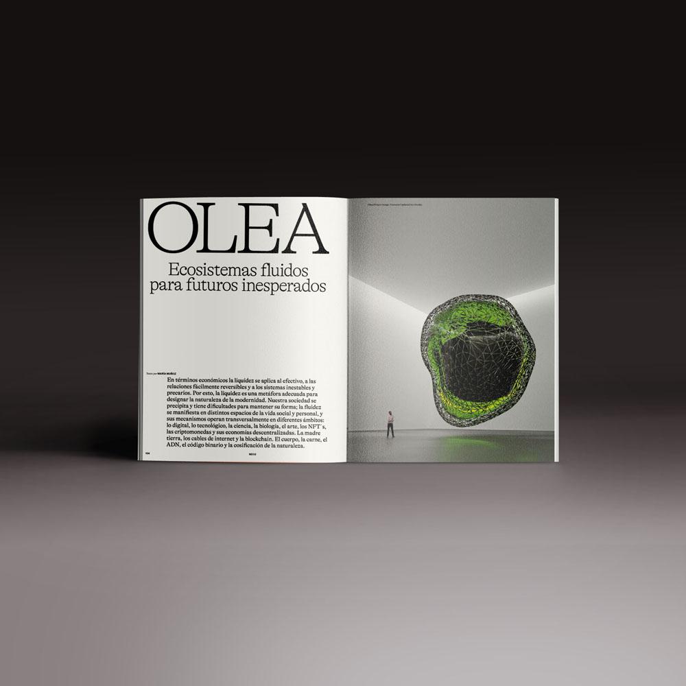 Neo2 Magazine: doble página artículo Olea