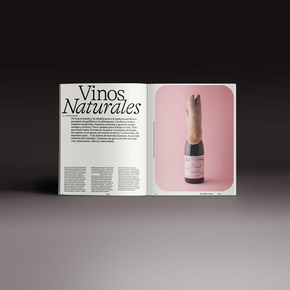 Neo2 Magazine: doble página artículo sobre vinos naturales