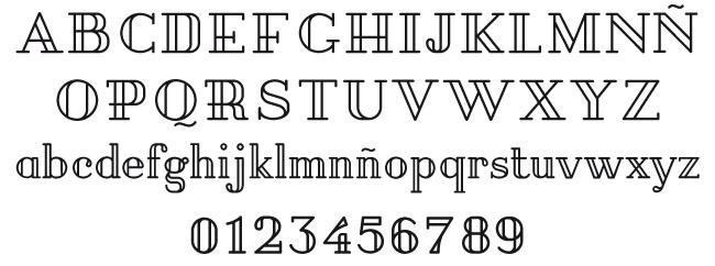 Tipografía Pirou