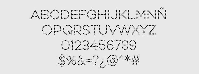 Tipografía Perfograma