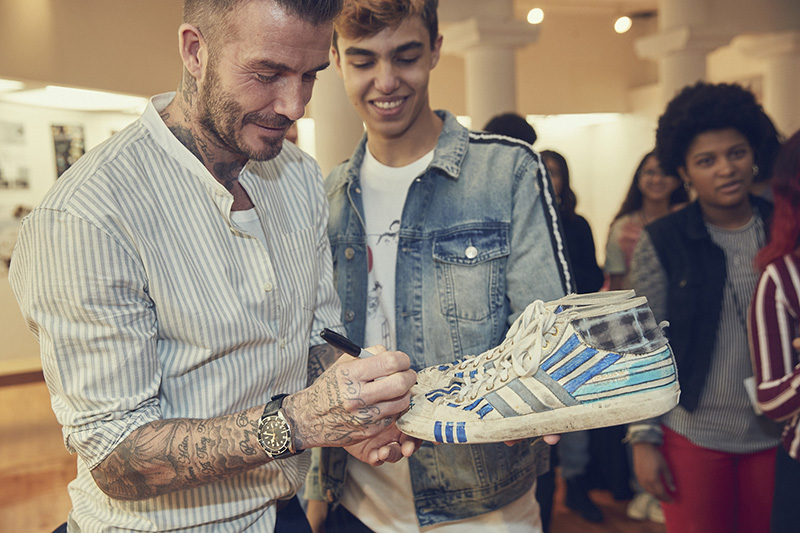 adidas Originals, David Beckham y British Fashion Council