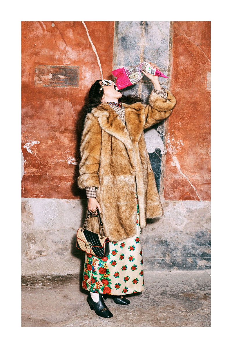 Gucci PreFall 2019: Pompeya, The Face & Galgos.