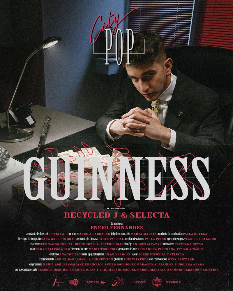 Guinness, estrenamos lo nuevo de Recycled J y Selecta