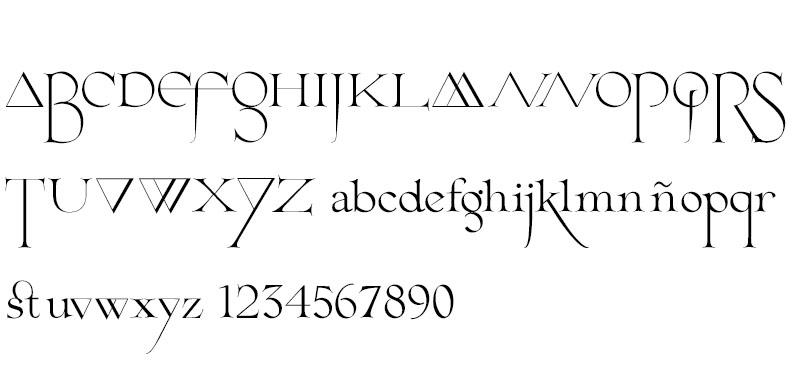Tipografía gratuita Cantique