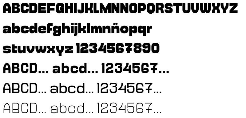 Tipografía gratuita Millimeter