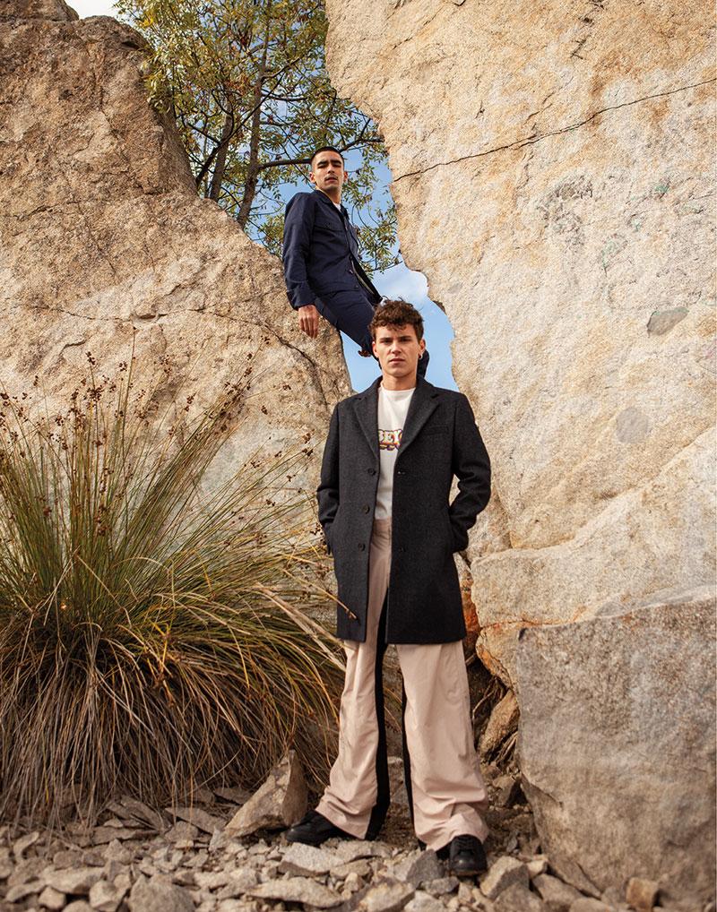 Omar Ayuso y Arón Piper juntos en este editorial de moda