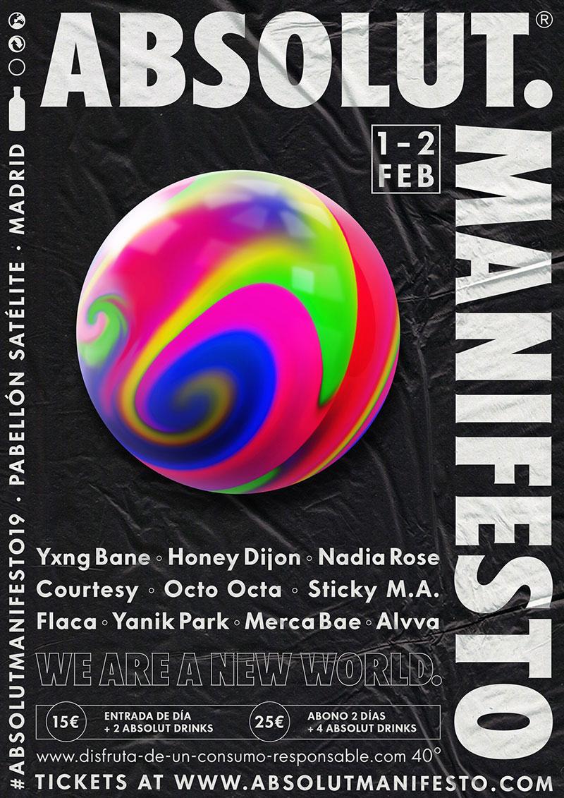Los artistas de Absolut Manifesto 2019. Hoy Merca Bae