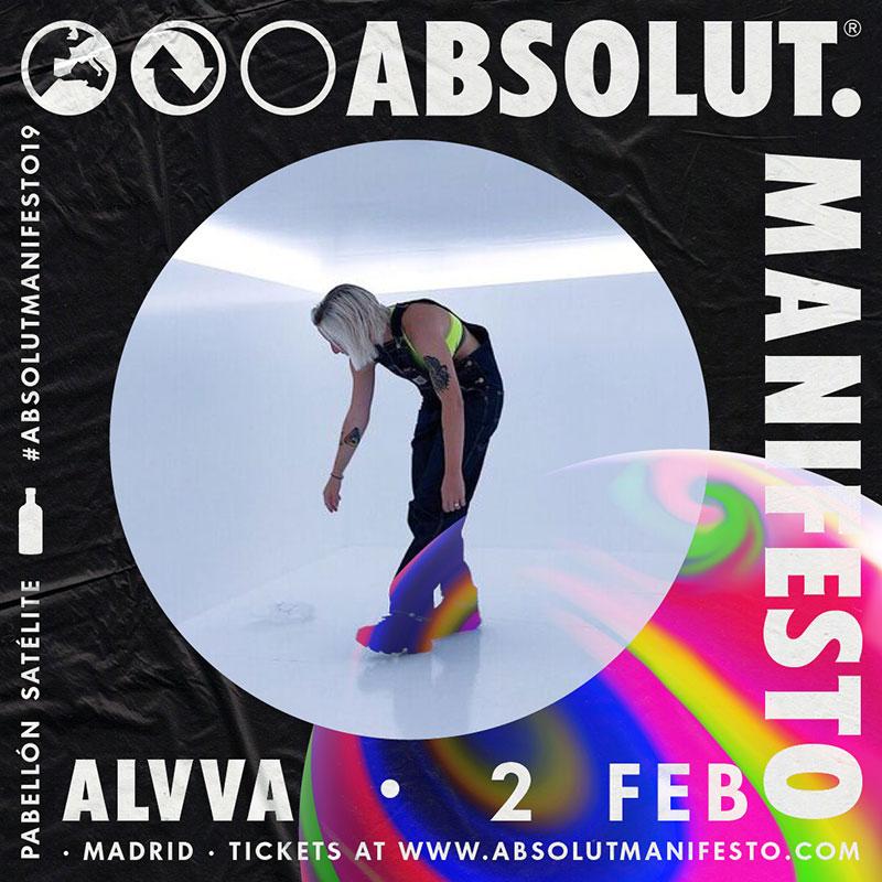 Los músicos de la fiesta Absolut Manifesto 2019. Hoy Alvva