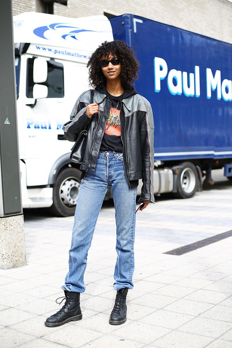 Arriba los jeans de tiro alto