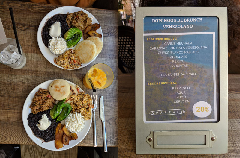 Brunch Venezolano en Madrid: Apartaco