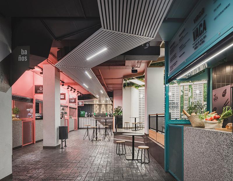 Mercado San Valero, interiorismo de Nihil Studio