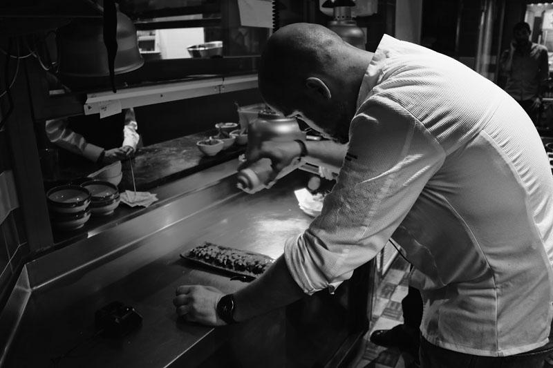 Restaurante Umo. Robata y fusión japo-española