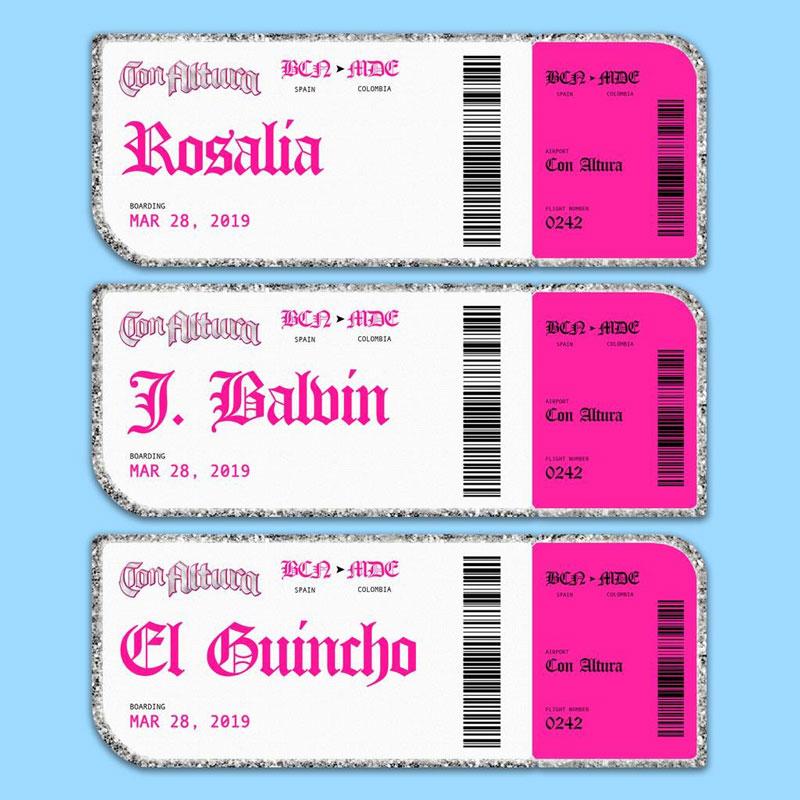 En las alturas con Rosalía, El Guincho y J Balvin