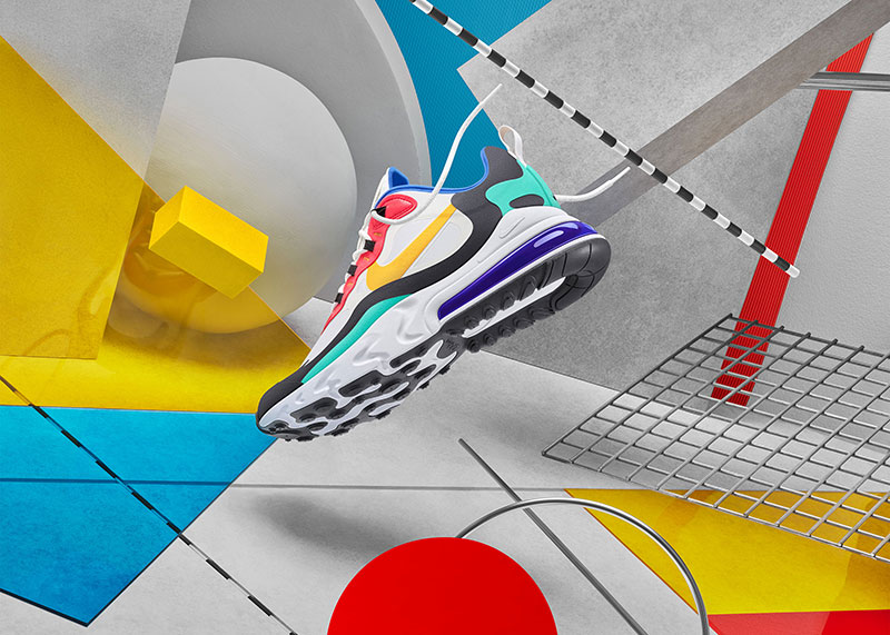 Nike Air Max 270 React, las zapatillas Bauhaus