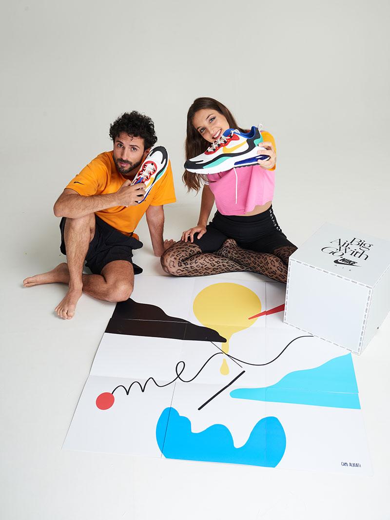 Delaporte y Brahim Díaz comparten zapatillas