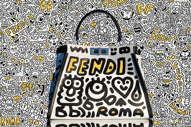 Mr Doodle coloniza la sede de Fendi en Roma