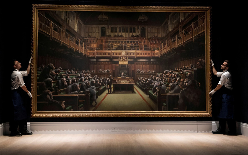 Banksy - Parliament devolved - 11.000.000 €