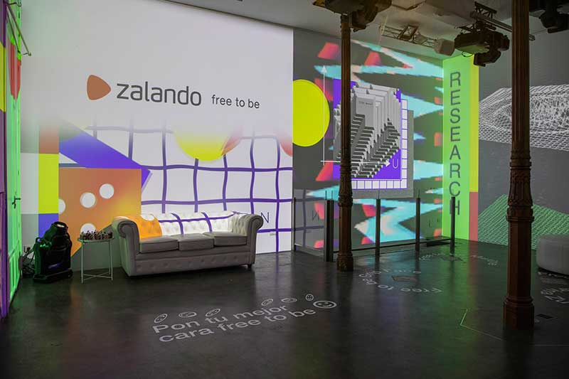 Grip Face interviene la primera pop up de Zalando en España