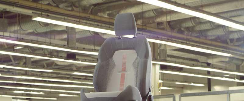 Las fundas futuristas de los asientos de un Ford