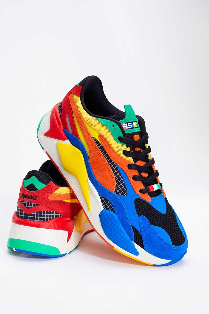 Puma x Rubik, las zapatillas con más color