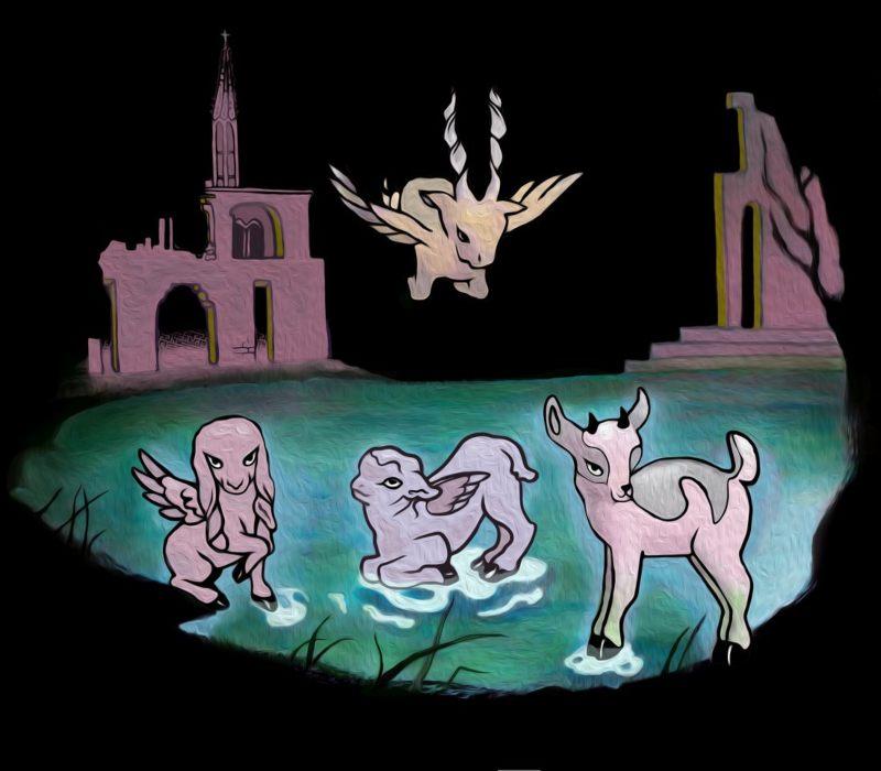 Pepa Salazar x Lorena Prain crean seres góticos adorables