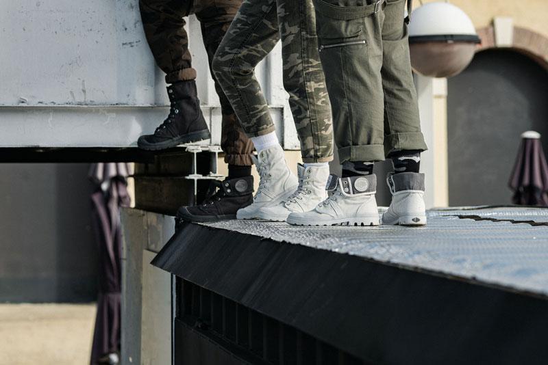 Botas Palladium, estética militar en lona