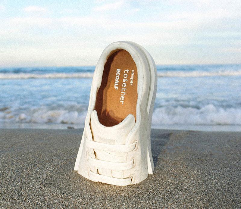 La zapatilla más sostenible de Camper x Ecoalf