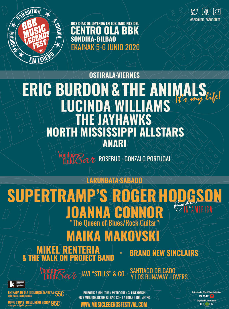 BBK Music Legends Festival 2020: 5 y 6 de junio