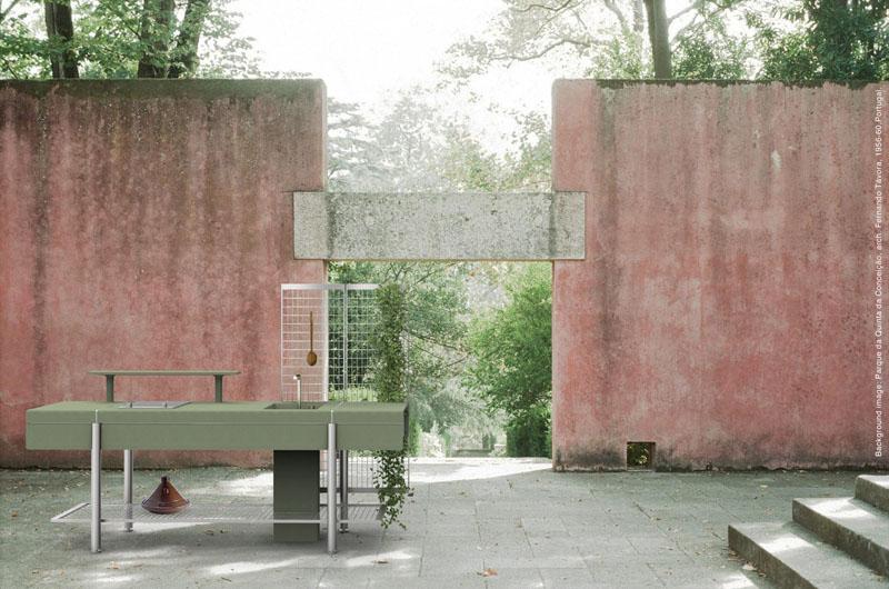 Elmar presenta una cocina de hormigón para exteriores