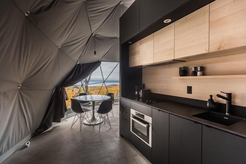 Cúpulas geodésicas como segunda residencia en Quebec