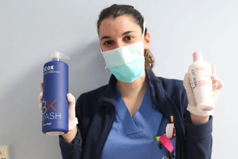 I.C.O.N. en peluquerías y hospitales