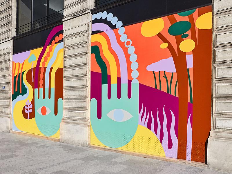 Luckylefthand decora las oficinas de Louis Vuitton