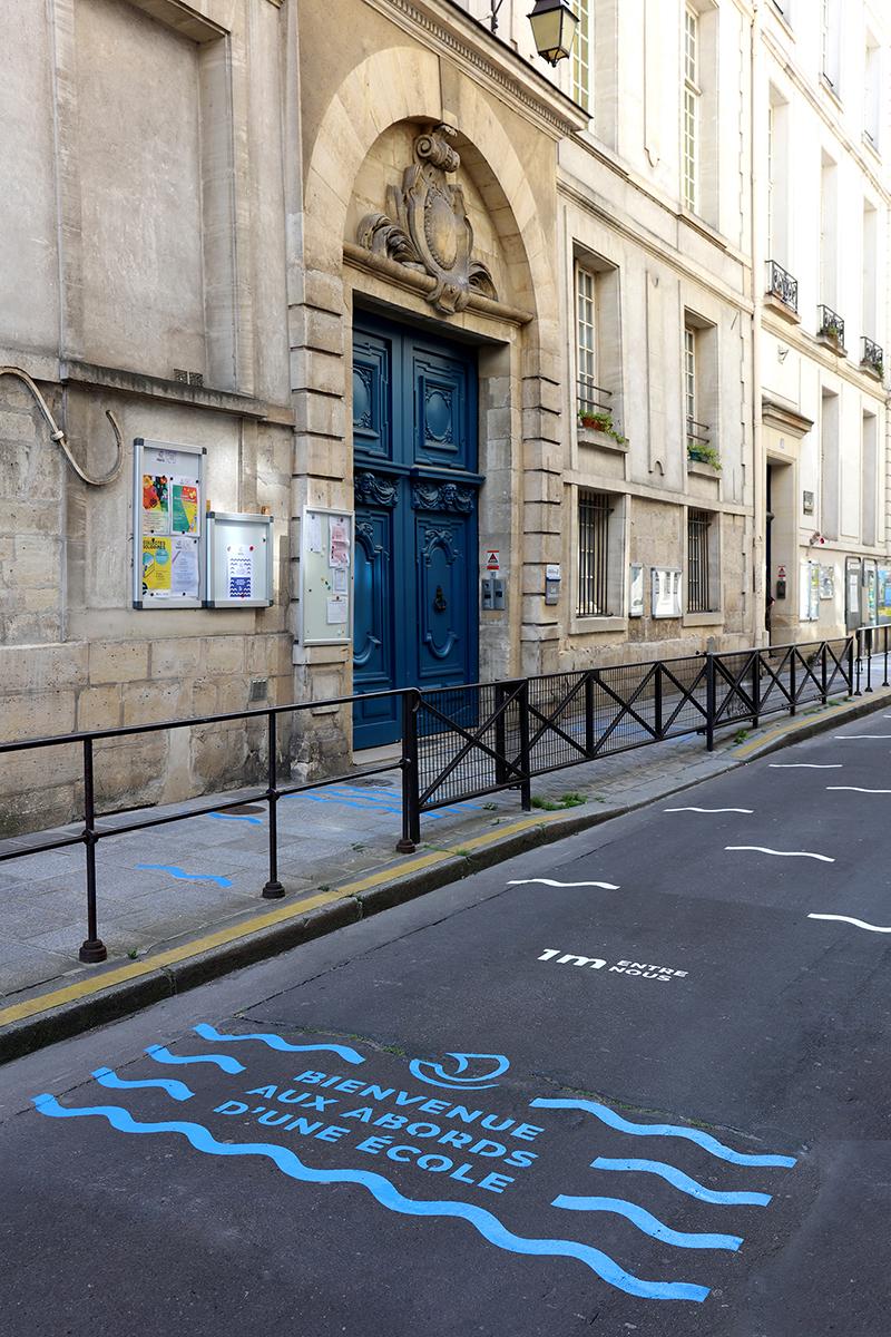 Señalética post-confinamiento: Studio 5.5 en París